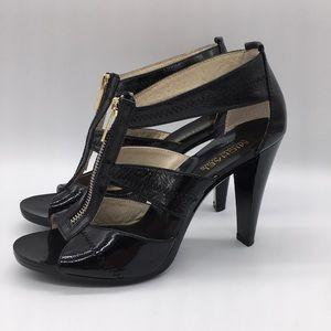 Michael Kors Black Zip Patent Leather High Heels 8